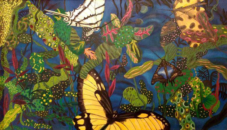 Piso pélvico Ejercicio Mariposa Pintura por Daniela Kantor
