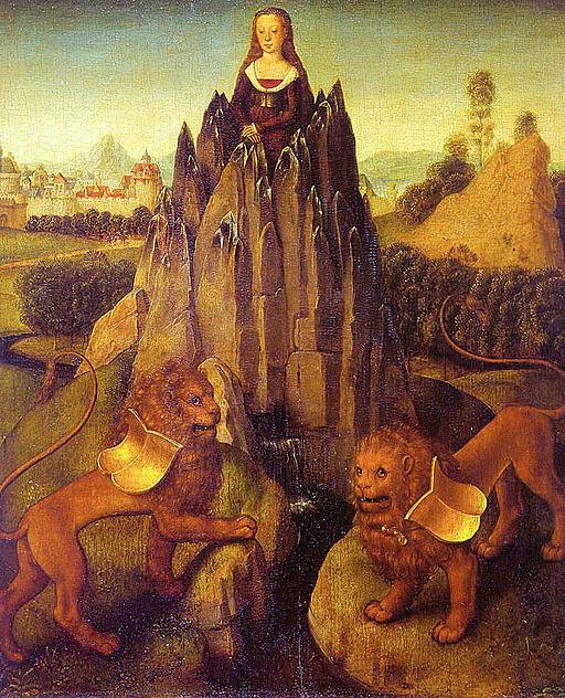 Hans Memling Alegoria de la Castidad